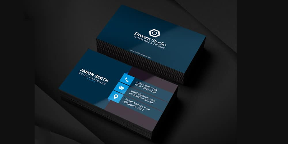 Clean Business Card Template PSD