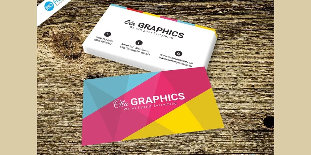 Colored Business Card PSD