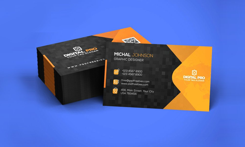 100 free business cards psd the best of free business cards corporate business card template psd wajeb Image collections