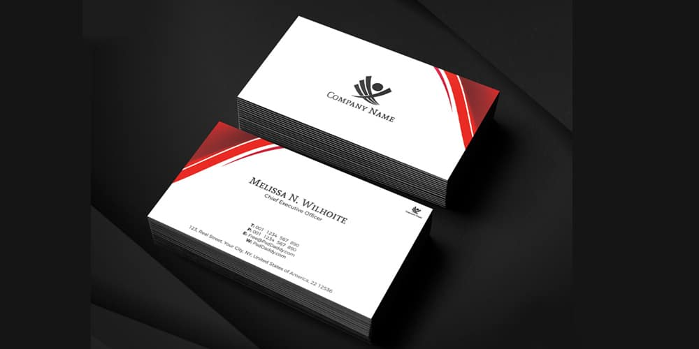 Corporate Business Cards Design PSD