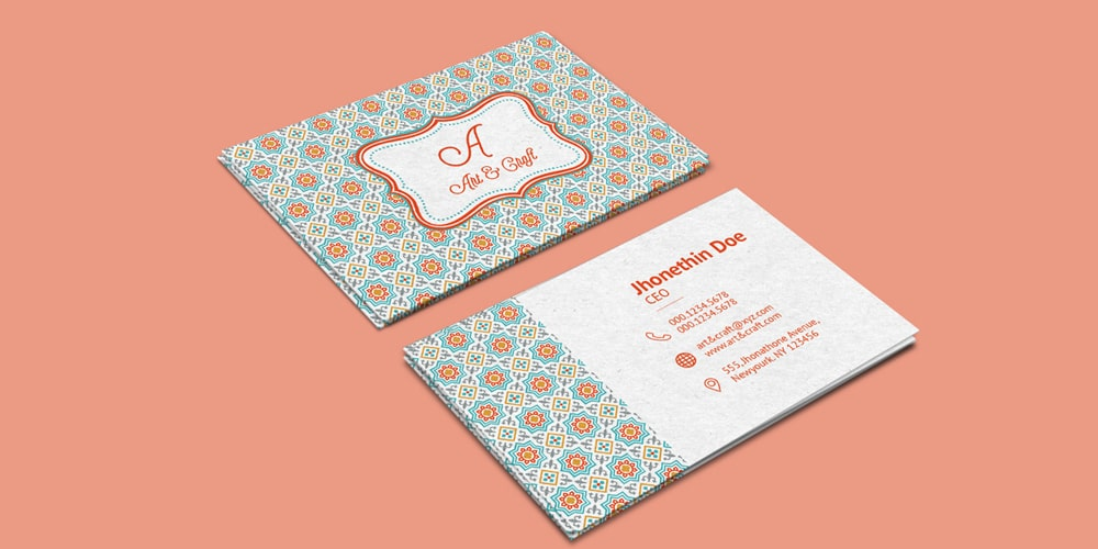 Craft Agency Business Card Template PSD