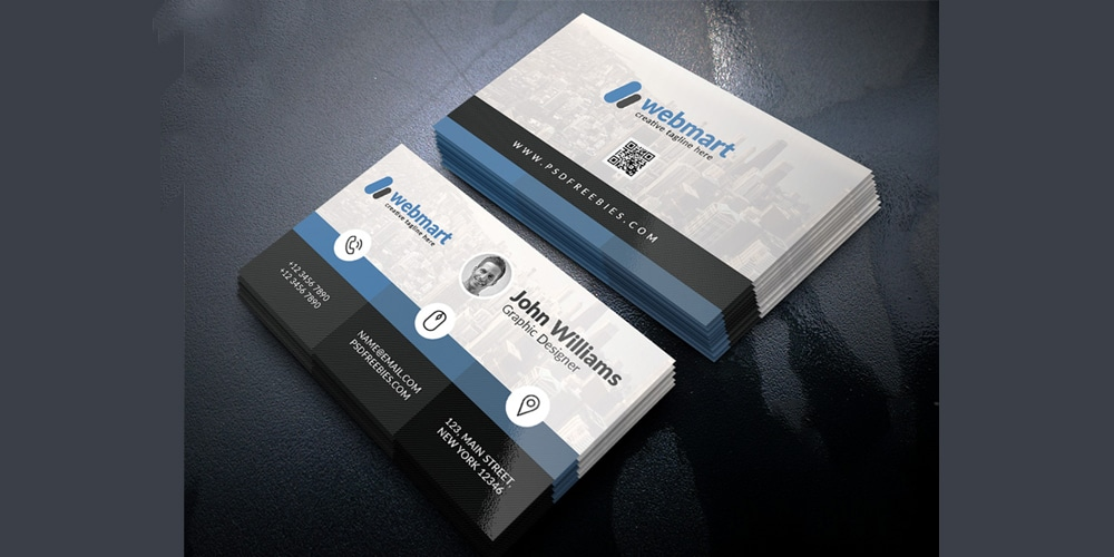 Creative Business Card Design Template PSD