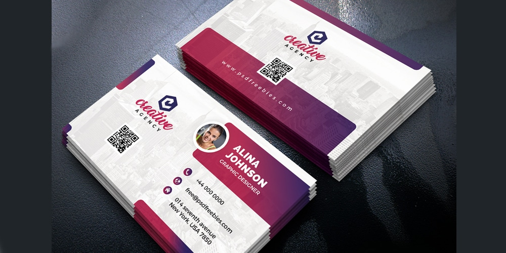 100 free business cards psd the best of free business cards creative business card template psd fbccfo Gallery