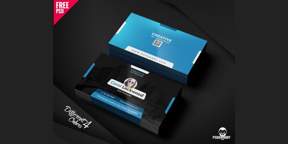 100 free business cards psd the best of free business cards creative business card templates psd wajeb Choice Image