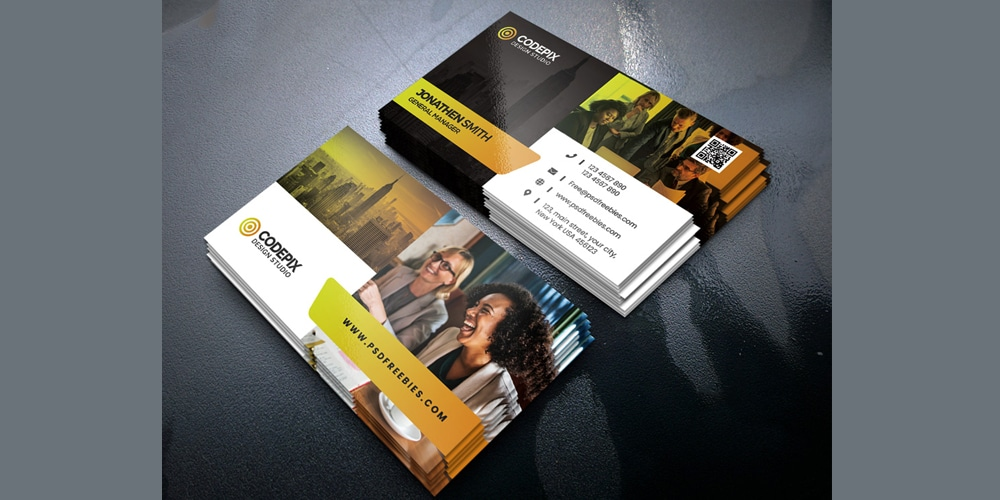 Creative Business Cards Design Template PSD