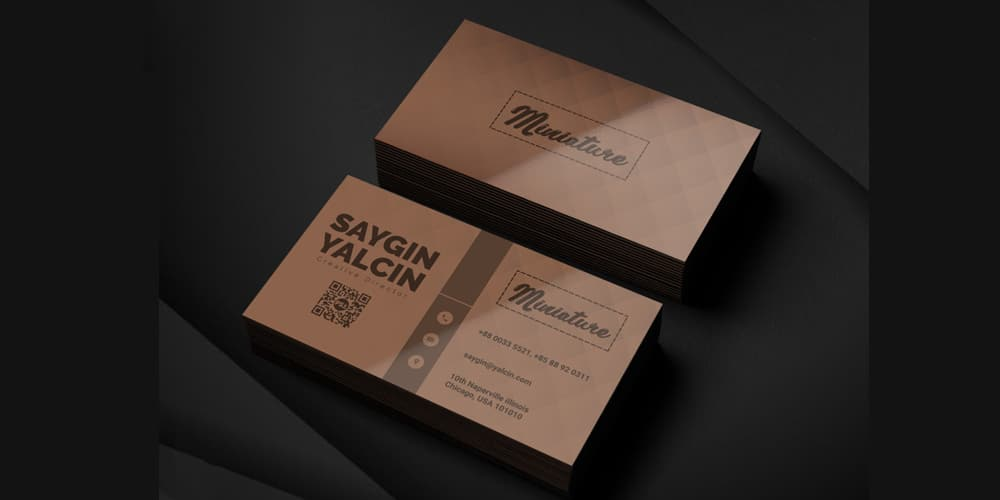 Creative Director Business Card Template PSD