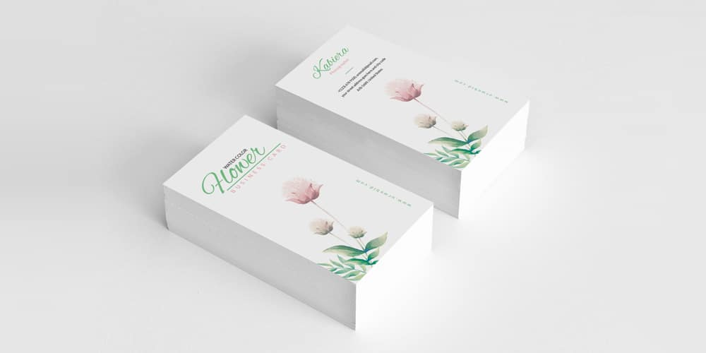 Creative Floral Business Card Template