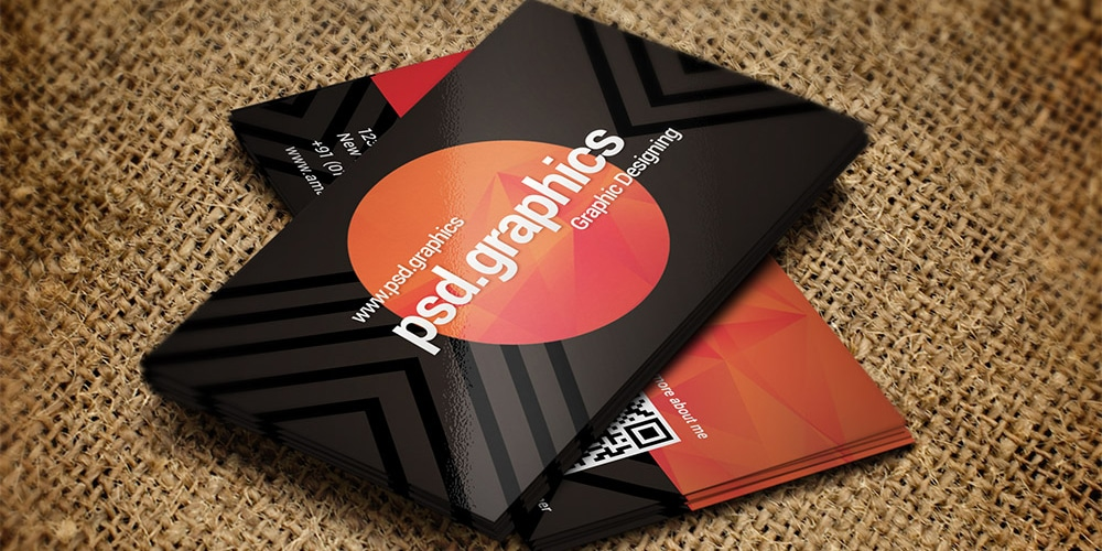 Dark Business Card Template PSD