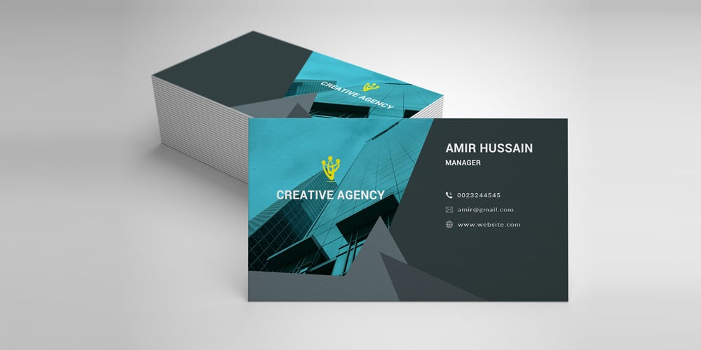 Elegant Business Card Template PSD