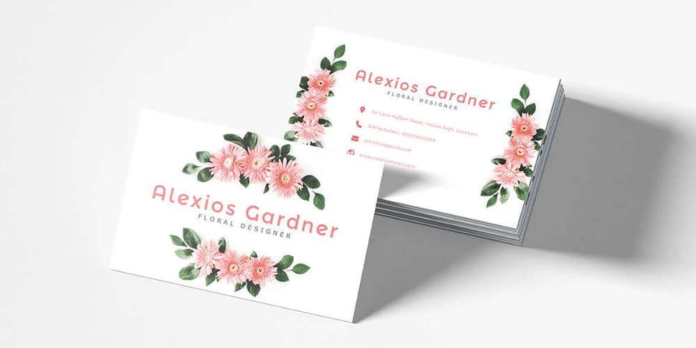 Floral Designer Business Card Template PSD