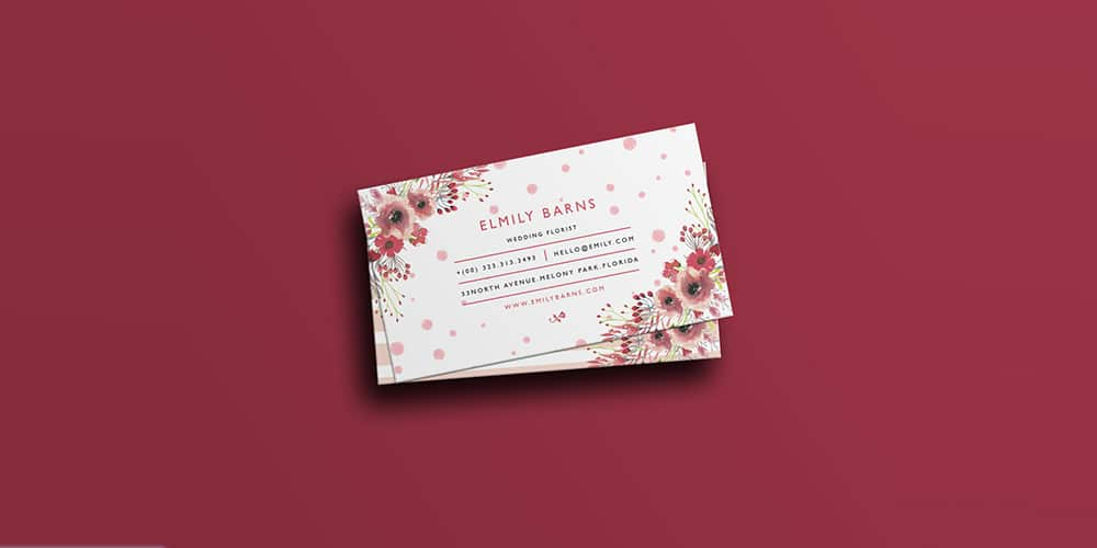 Florist Business Card Template PSD