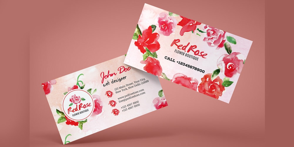 Flower Shop Business Card PSD