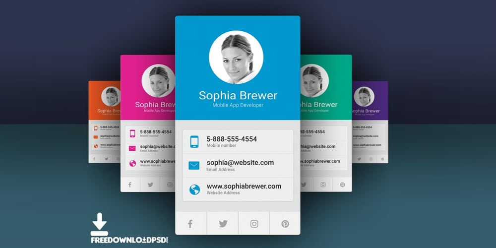 Free App Developer Business Cards PSD