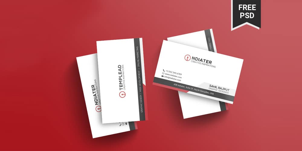 Free Beautiful Business Card PSD