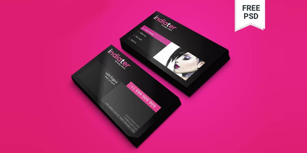 Free Beauty And Salon Visiting Card PSD
