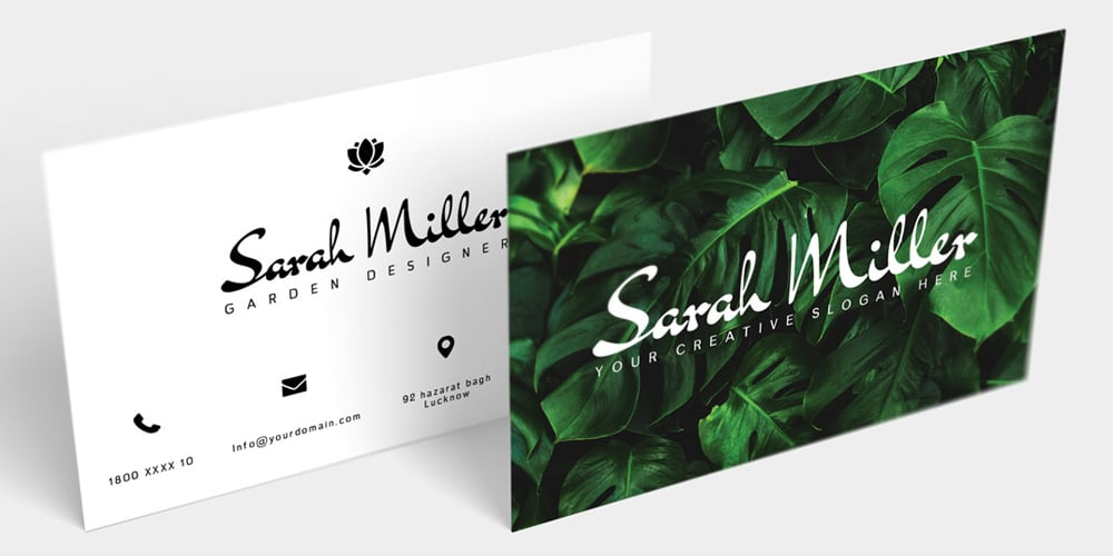 Free Botanical Business Card Template PSD