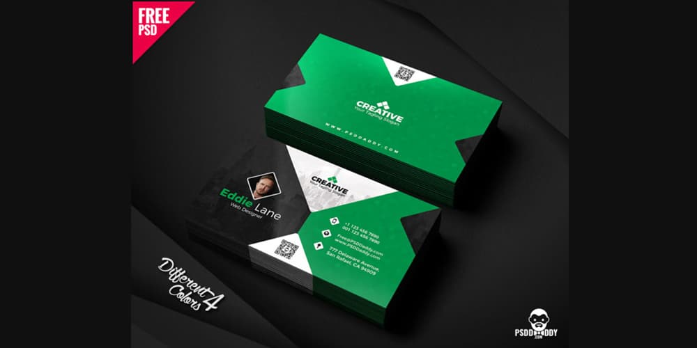 Free Business Cards PSD The Best Of Free Business Cards - Business card design template free