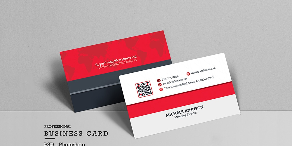 Free Clean Business Card PSD