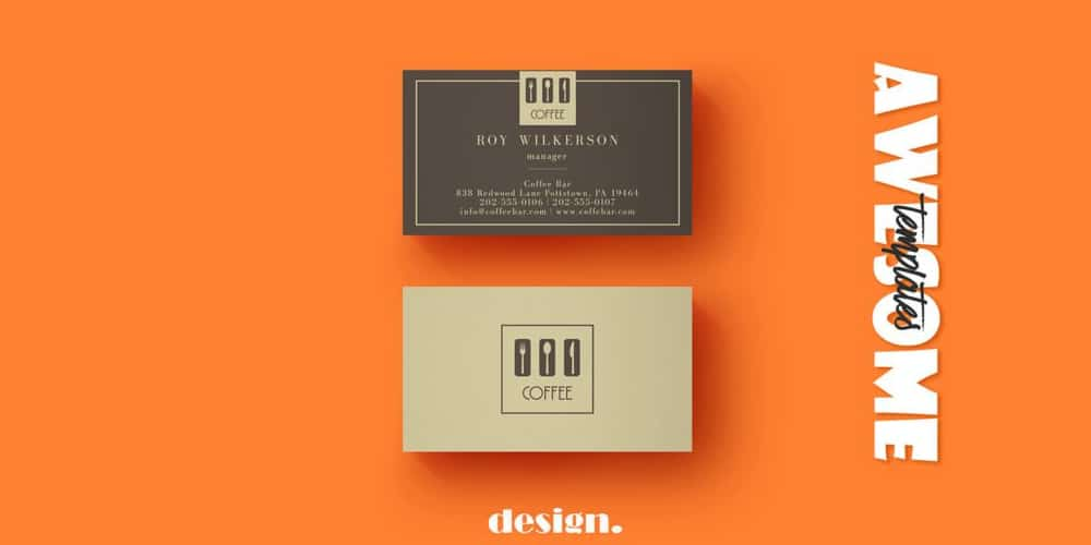 Free Coffee Business Card Template PSD