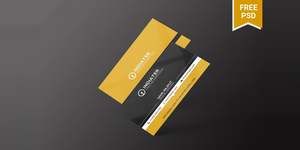 Free Company Business Card PSD