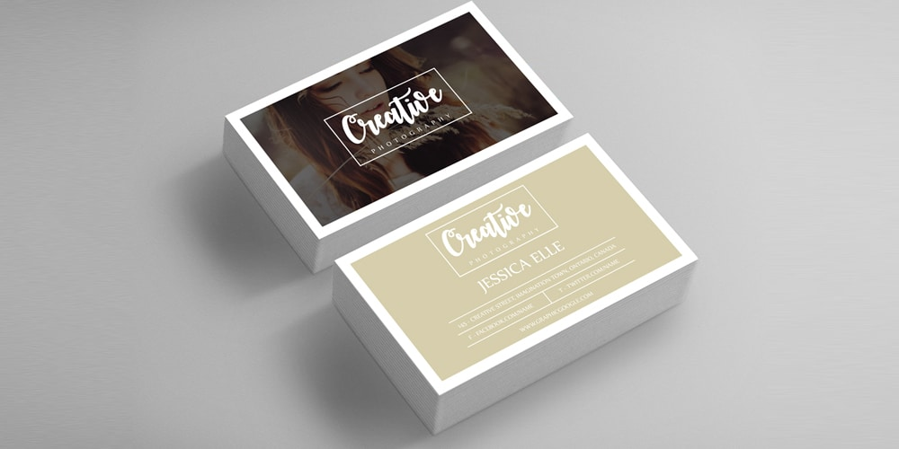 Free Creative Photography Business Card PSD