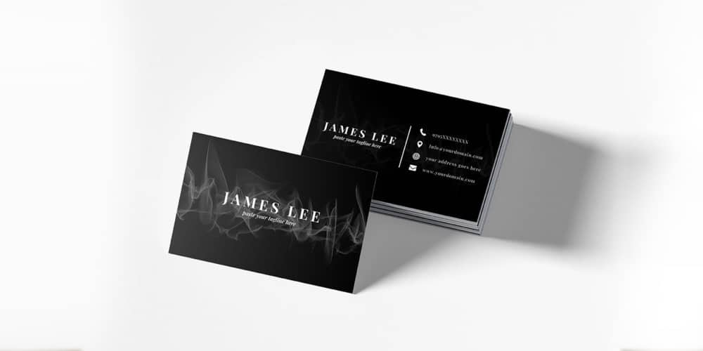 Free Elegant Business Card Template PSD