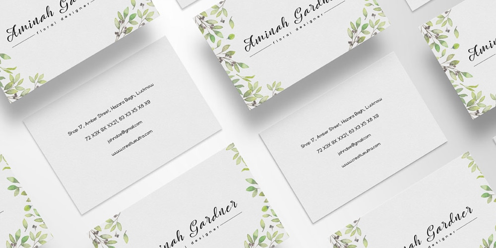 Free Floral Designer Business Card Template PSD