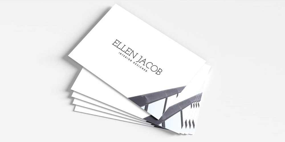 Free Interior Design Business Card Template PSD