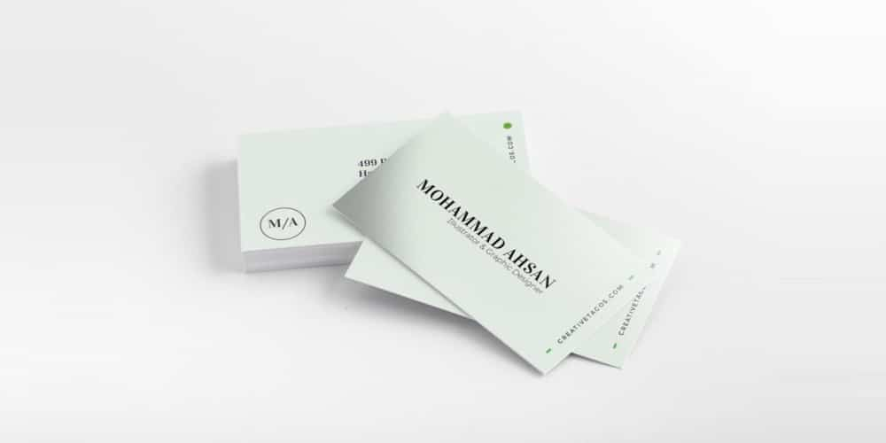 Free Minimal Business Card PSD