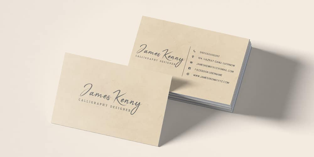 Free Minimal Designer Business Card Template PSD