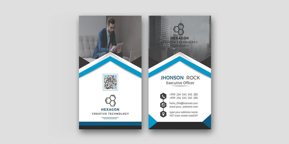Free Modern Corporate Business Card Template PSD