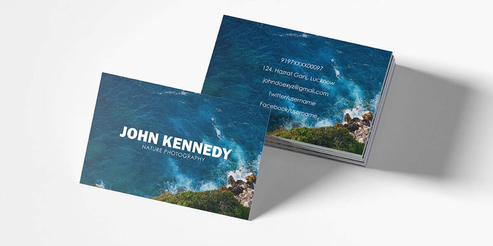 Free Nature Business Card Template PSD