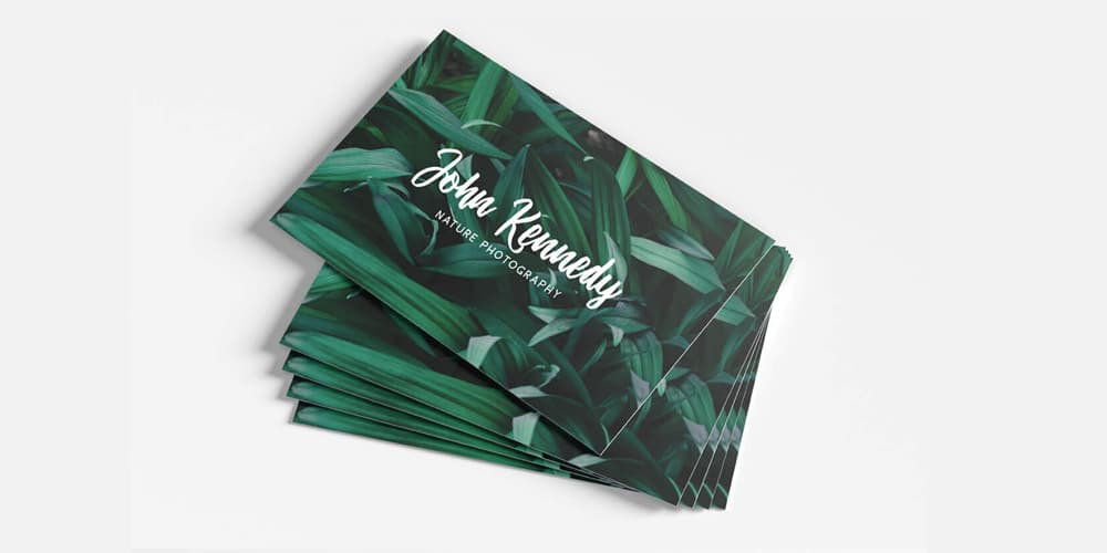 Free Nature Photography Business Card PSD