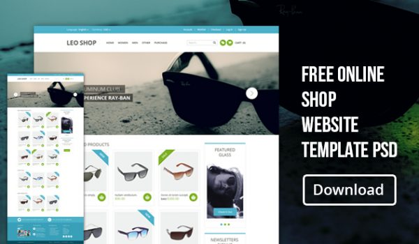 Free Online Shop Website Template PSD - cssauthor.com