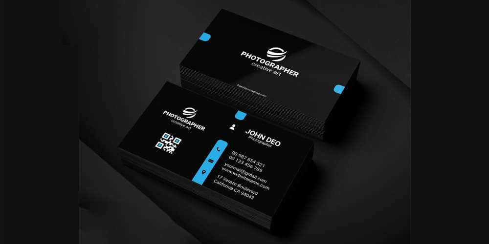 Free Personal Business Card Template PSD