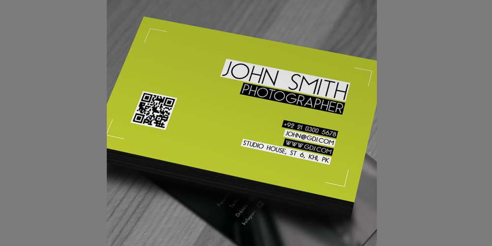 Free Photographer Business Card Template PSD