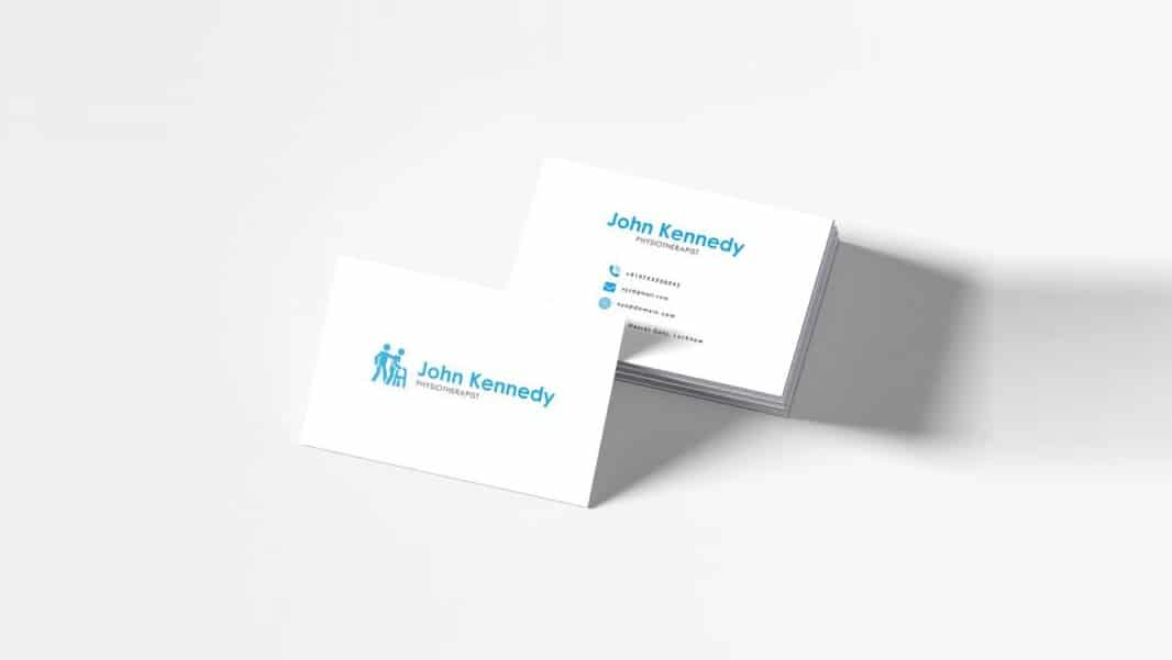 Free Physiotherapy Business Card Template PSD