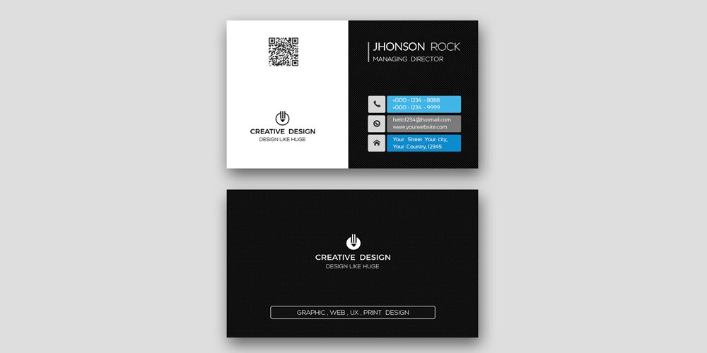 Free Professional Modern Business Card PSD