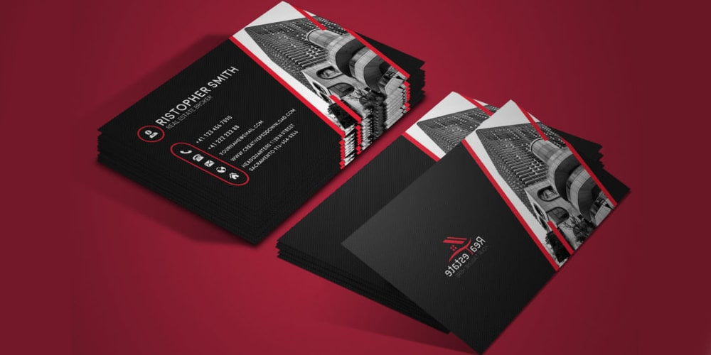 Free Real Estate Business Card PSD