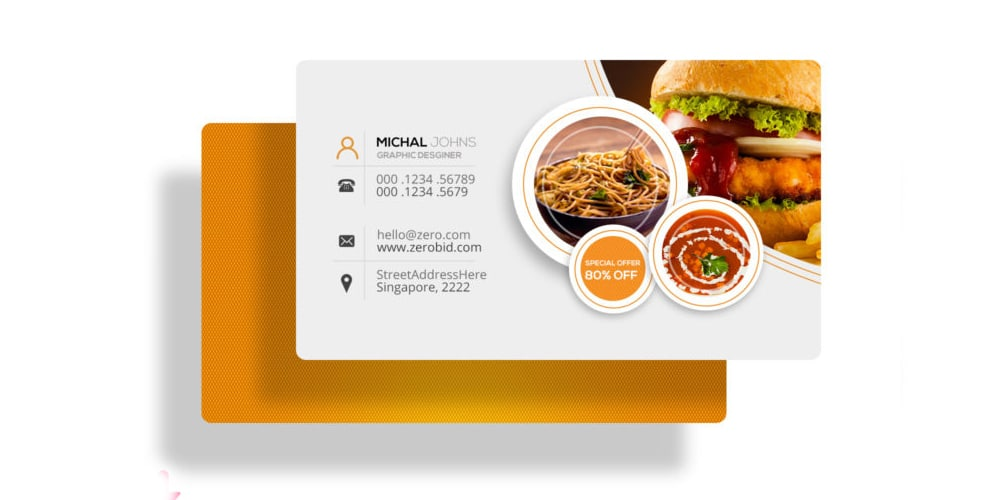 Free Restaurant Business Card PSD