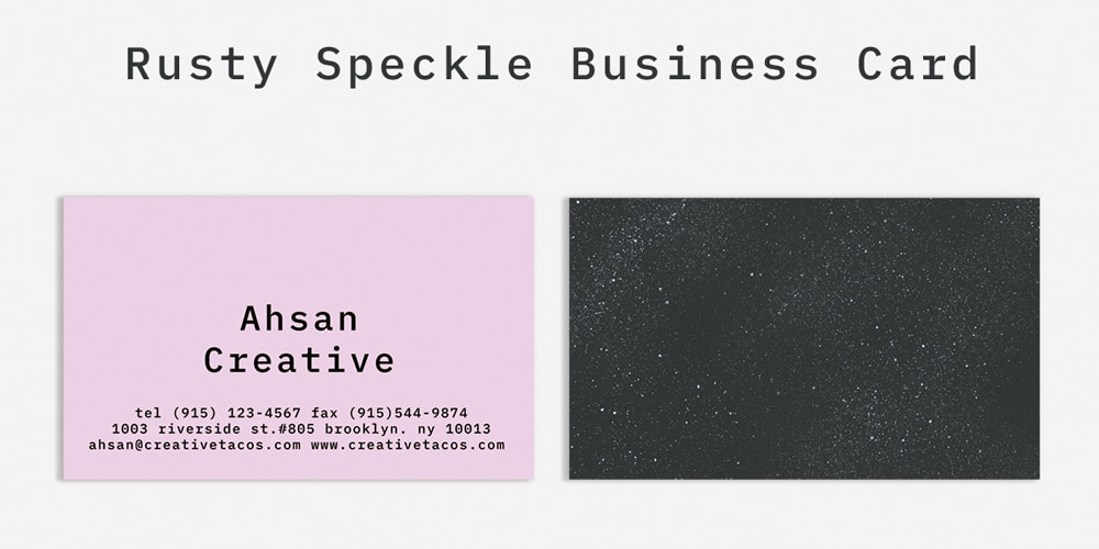 Free Rusty Speckle Business Card PSD