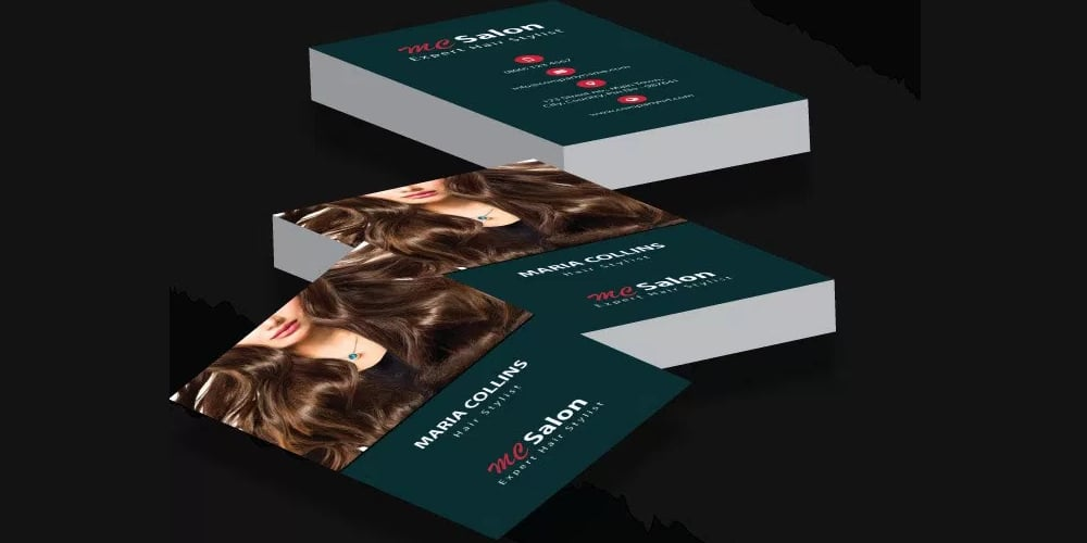 Free Salon Business Card Template PSD