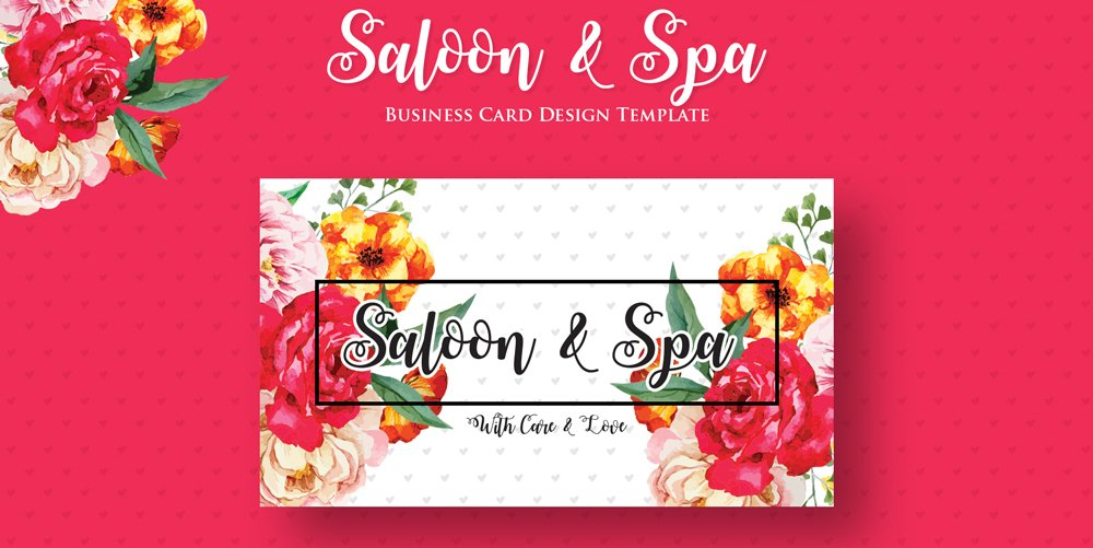 Free Saloon & Spa Business Card PSD