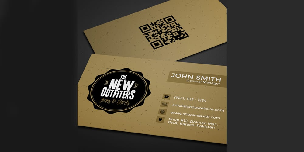 Free Vintage Business Card Template PSD