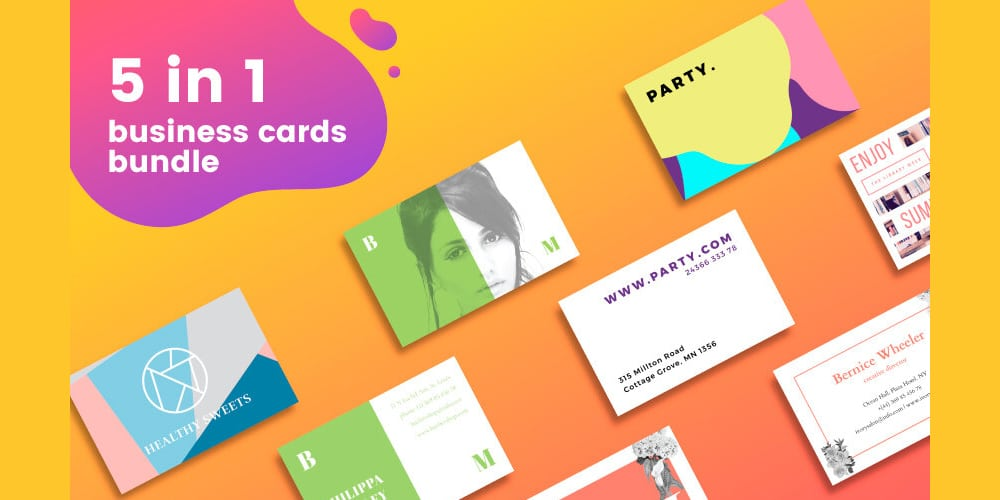 Free Mini Pack of Business Card Templates