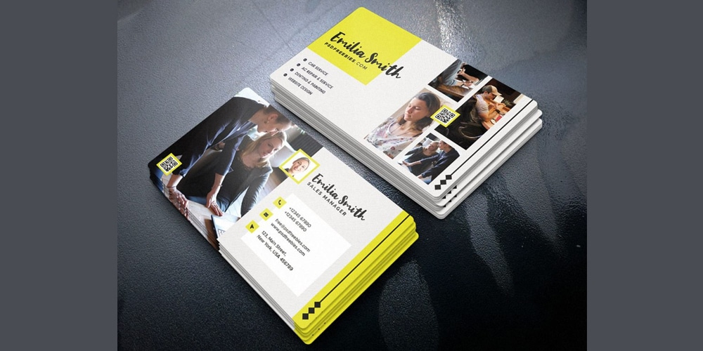 Freelancer Business Card PSD