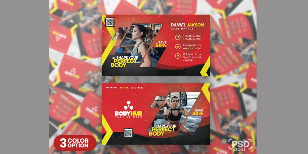 Gym and Fitness Center Business Card