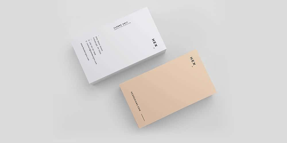 HEX Business Card Template PSD