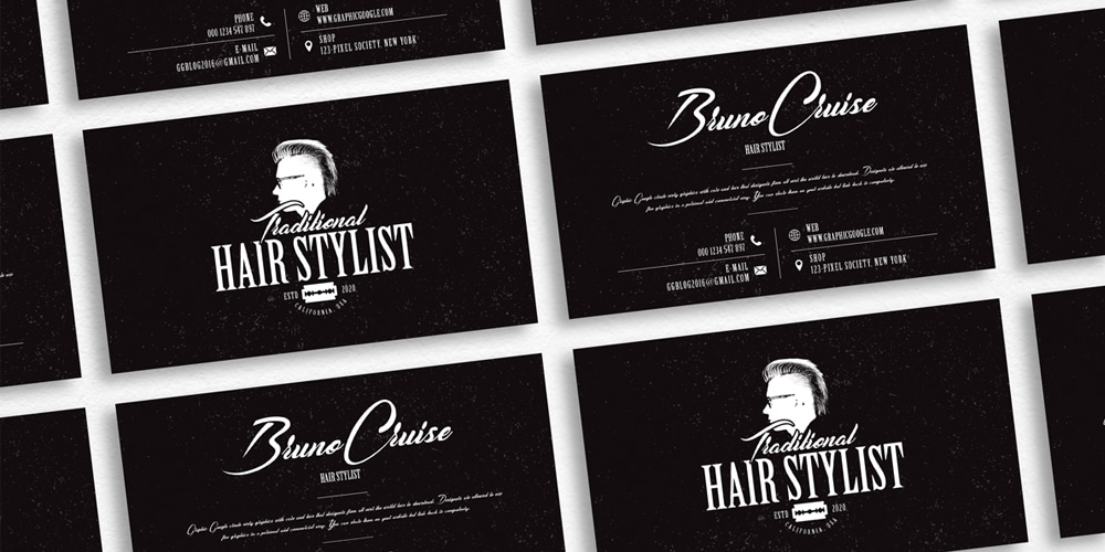 Hair Stylist Business Card Design Template
