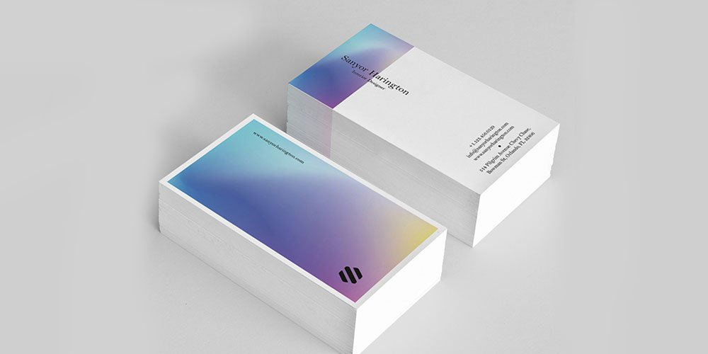 Holo Business Card Template PSD